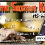 Shortcut keys of computer in hindi