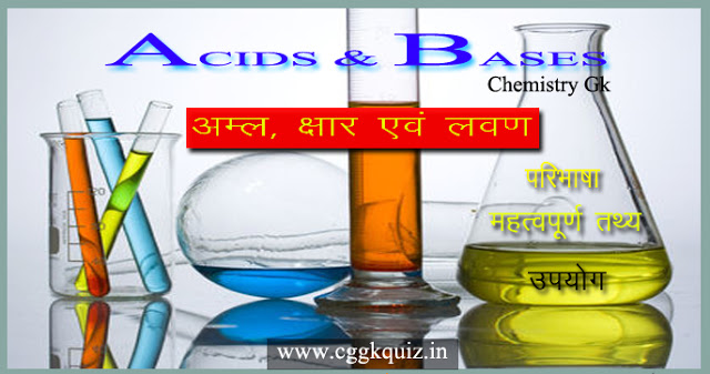 general knowledge about general science questions in hindi | type of salts, acids and bases general science questions gk in hindi | chemical reactions and equations, definition, uses, structures and formulas, weak and strong acids names, ph scale values, acid rain, science gk notes in hindi quiz with chemistry gk questions in hindi pdf etc.