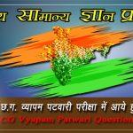 Ancient India Gk in Hindi- CG VYAPAM Patwari Question Paper