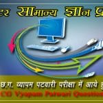 General Knowledge of Computer Question in Hindi- CG VYAPAM question paper