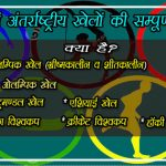 Sports Gk Question- what is national and international events game notes in hindi