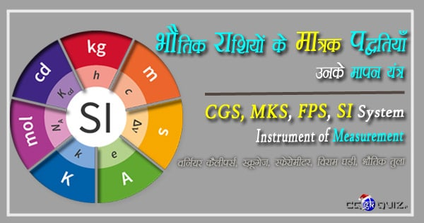 physics gk in hindi pdf, apps, physical quantity si units system and their measurements in hindi
